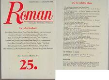 C1 ROMAN Revue # 25 1988 Coupry LE CUL ET LA CHAIR Curiosa EROTISME