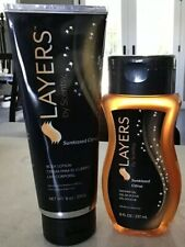 New Retired Scentsy Layers - Sunkissed Citrus - Shower Gel and Lotion