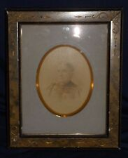 Antique Decorative Arts Picture Turn of Century Frame with Womans Photo a