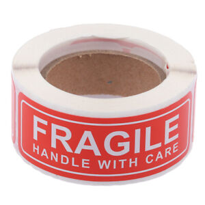 150Pcs/Roll Fragile Label Stickers Handle with Care Thank You Warning Si WF