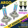 H7 Xenon White 100w Main Dipped Beam Headlight Headlamp 501 Sidelight Bulbs X 2