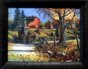 "Jim Hansel Country Roads Studio Canvas - 19"" x 15"" Framed"