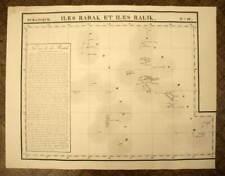 LES ILES MARSHALL CHAINE DE RALIK carte geographique par VANDERMAELEN 1827