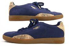 Puma Women's Match Lo S Snake Sneaker - Blue Suede - Size 9