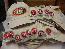 Lot of 12 Coca-Cola Racing Family CAPS from the 2003 Nascar season New w/tags