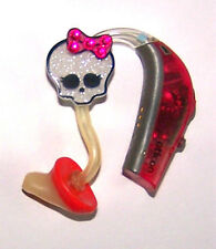 Children's Adult's Hearing Aid accessories tube charms SPARKLE BOW SKULL