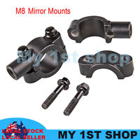 2x8 mm Mirrors Adaptor Mount Brackets Universal Motorcycle dirtbike MX handlebar