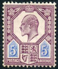 1906 DLR 5d dull purple & ultramarine unused o.g. Spec No M29(1).