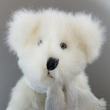 Hallmark Teddy Bear Ice Skating Winter White Jointed Bean Body Scarf Laced Skate