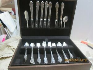"Rogers IS ""Remembrance""Flatware Silverplate Service for 8  50 Pieces (#10-10-09-"