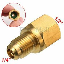 R134a Refrigerant Tank Adapter 1/2'' ACME Female x 1/4'' Male Flare Fitting