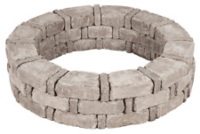 "RumbleStone Tree Ring Kit Greystone 46"" Simple Assembly Concrete Edging Barrier"