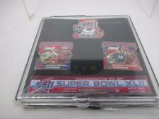 Super Bowl XLII Pin Set 3599/5000 Patriots Giants 2008 Brand new Sealed RARE