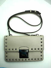 Authentic New MICHAEL KORS Sloan Prye Guesset Crossbody Smooth Leather Cement