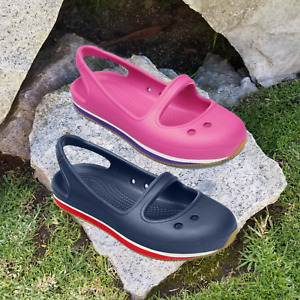 NWT CROCS Retro Mary Jane Toddler Girls Slingback Flats SELECT SIZE & COLOR