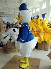 New Donald Duck Fancy Dress Mascot Costume Cartoon Character Adult Suit Gift