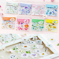 45x Kawaii Journal Diary Decor Flower Stickers Scrapbooking Stationery Supply JT