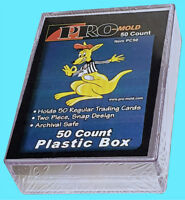 1 PRO MOLD 50 COUNT Trading CARD SNAP STORAGE BOX Plastic PC50 Sports 2-piece