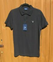 "Mens Gant Polo Shirt Cotton Small 38"" Chest Regular Fit Black New With Tags"
