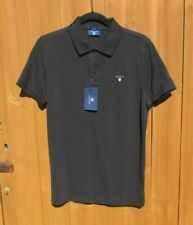 """Camisa Polo Para Hombre Gant Rugger pequeño 38"""" Pecho Regular Fit Negro Nuevo Con Etiquetas"""