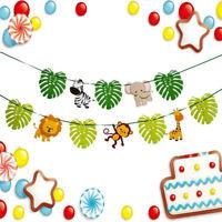 3 m Animal Cartoon Animal Jungle Leaf Theme Bunting Birthday Banner Party De.RZ