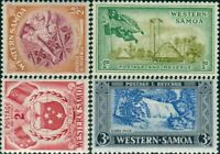 Samoa 1952 SG219-222 Girl Huts Arms Falls MLH