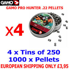 GAMO PRO HUNTER .22 Airgun Pellets 4(tins)x250pcs