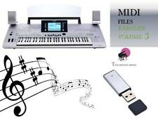 MIDI File Karaoke USB stick for Tyros 3 Volume 3 NEW