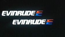 2 - Evinrude REFLECTIVE marine vinyl Outboard marine vinyl decals 15.5 inch