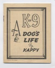 1944 K-9 A Dogs Life Kappy Liquor Cocktail Lounge Chicago IL WAR Humor Pamphlet