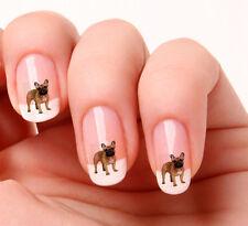 20 Uñas Arte Pegatinas Transfers Adhesivos #652 Francesa Toro Perro