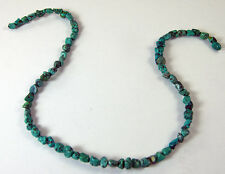 """15"""" Strand of 69 TURQUOISE BEADS Small Nuggets for Jewelry Making about 5 mm"""