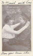 WW1 ANZAC postcard Australian soldier with girl from Rifle Range Victoria 1916