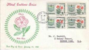 Canada - Provincial Floral Emblem Series (7no. Various FDC's) 1964-66
