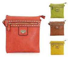 Ladies Dimante Studs Fashion Cross Body Women Fancy Shoulder Travel Handbag 1059