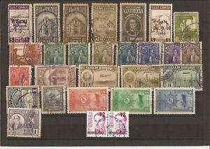 VENEZUELA-28 Mostly used stamps (1937-on) for fill ins