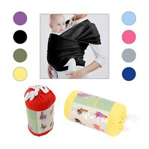 BABY WRAP CARRIER SLING STRETCHY BAG Breastfeeding MANY COLOURS Adjustable