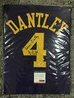 Adrian Dantley Signed Custom Utah Jazz #4 HOF 2008 (PSA DNA ITP)