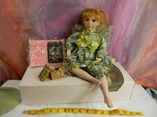 Paradise Galleries Linda Mason Fairy doll - Treasures / Emerald Isle +box/coa