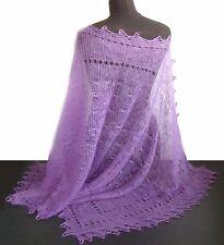 Chale Etole russe couleur Violet Cadeau original Femme Etole Violet tricotee