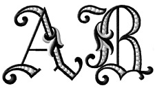 """ABC Designs Dalmatiano Initials Font Machine Embroidery Designs for 4""""x4"""" Hoop"""