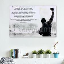 24 x 36 inch Rocky Balboa Motivational Quotes Art Silk Poster New
