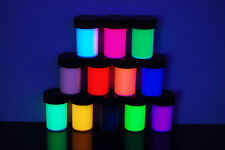 12 Color Assorted Blacklight Reactive Fluorescent Acrylic Paints, 12 Pack 3/4oz