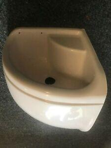 Fibreglass Corner Shower Basin Insert - 495 x 295 x 265mm Caravan RV MotorHome