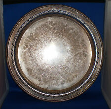 Wm Rogers Silver Serving Tray 172