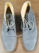 ROBERT WAYNE MEN'S GRAY SUEDE LACE UP ANKLE BOOTS SIZE 12 - PRE OWNED