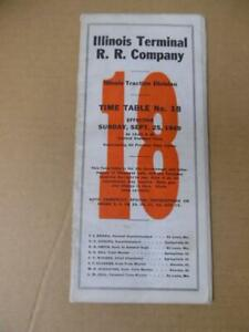 1949 Illinois Terminal Railroad Employee Timetable 18 ITC Traction Div. Vintage