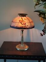 Pittsburgh Style Reverse Painted Sailboat Lamp