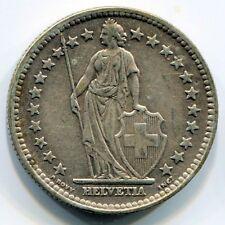 1944 Helvetia 2 FR Silver Argento Svizzera Franchi