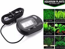 Termómetro De Acuario LCD Negro Pescado Tanque de Agua Terrario Temperatura UK rlts
